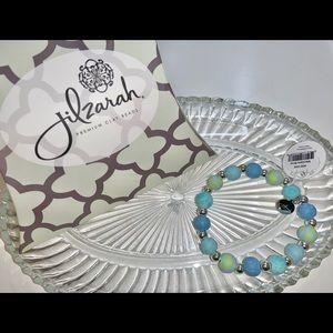 Jilzarah Clay Bead Bracelet Mandala Blue